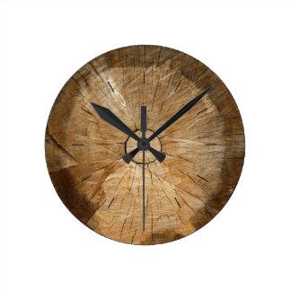 Relógio Redondo Árvore natural da MADEIRA   do REGISTRO cortada