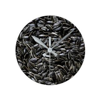 Relógio Redondo As sementes de girassol refrigeram o divertimento