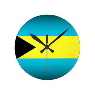 Relógio Redondo Bahamas embandeiram a borda escura
