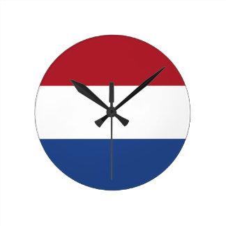 Relógio Redondo Baixo custo! Bandeira holandesa das caraíbas