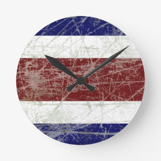 Relógio Redondo Bandeira da Costa Rica