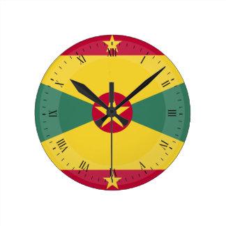 Relógio Redondo Bandeira de Grenada