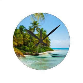 Relógio Redondo Barco no caribe