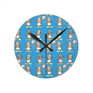 Relógio Redondo Bebê da dança