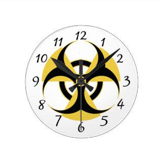 Relógio Redondo Biohazard radioativo