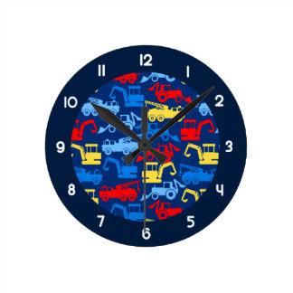 Relógio Redondo Caminhões do trabalho