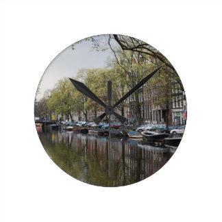 Relógio Redondo Canais em Amsterdão, Holland