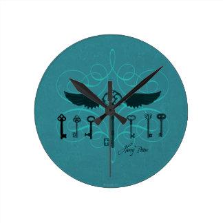Relógio Redondo Chaves de voo do período   de Harry Potter