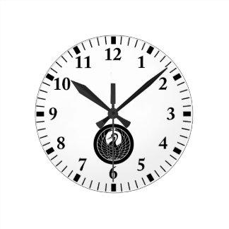 Relógio Redondo Círculo do guindaste no círculo