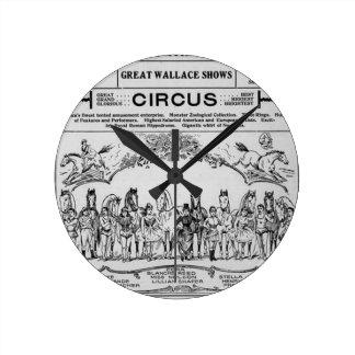 Relógio Redondo circus nebraska Circo