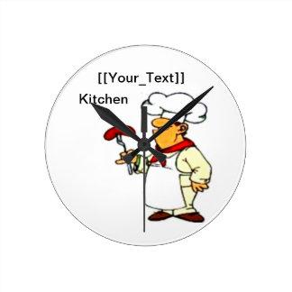 Relógio Redondo Cozinheiro chefe