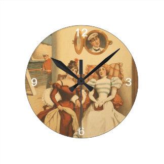 Relógio Redondo Cruzamento do T