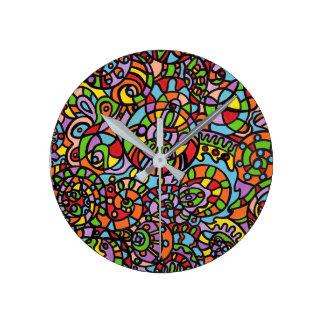 Relógio Redondo Curvas e esferas