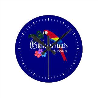 Relógio Redondo Destino tropical de Nassau Bahamas