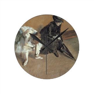 Relógio Redondo Edgar Degas   que esperam, c.1882