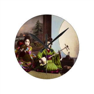 Relógio Redondo Entretenimento japonês do Musical da gueixa do