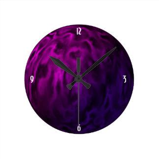Relógio Redondo Esfera roxa Textured