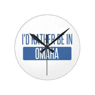 Relógio Redondo Eu preferencialmente estaria em Omaha
