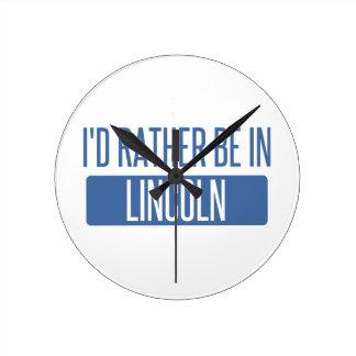 Relógio Redondo Eu preferencialmente estaria no NE de Lincoln