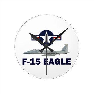 Relógio Redondo F-15C Eagle