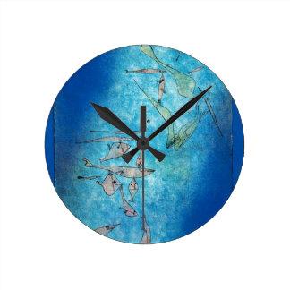 Relógio Redondo Fish Image - Paul Klee