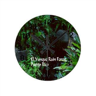 Relógio Redondo Floresta húmida do EL Yunique
