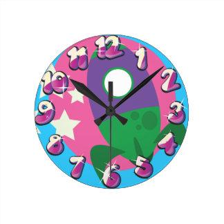 Relógio Redondo Foguetes bonitos