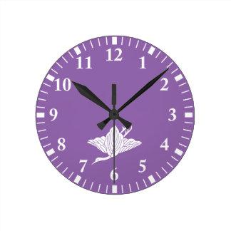 Relógio Redondo folhas Guindaste-dadas forma do carvalho