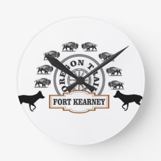 Relógio Redondo Forte Kearney Nebraska