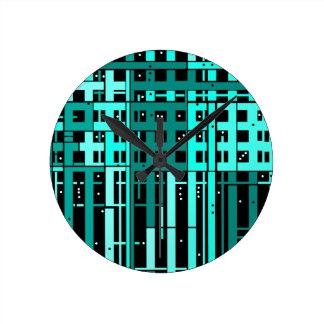 Relógio Redondo Garagem de estacionamento abstrata do verde do
