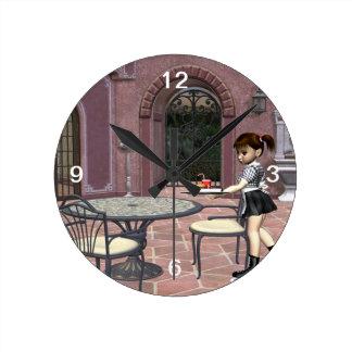 Relógio Redondo Garçonete do T com atitude