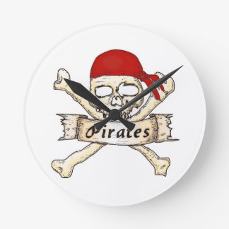 Relógio Redondo Hora para piratas!
