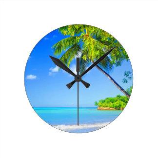 Relógio Redondo Ilha tropical