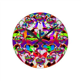 Relógio Redondo Ilusão dos corações por Kenneth Yoncich