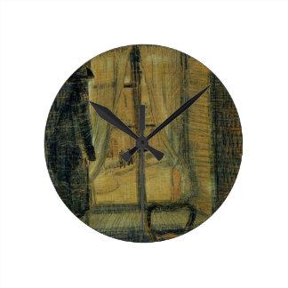 Relógio Redondo Janela de Van Gogh no restaurante de Bataille,