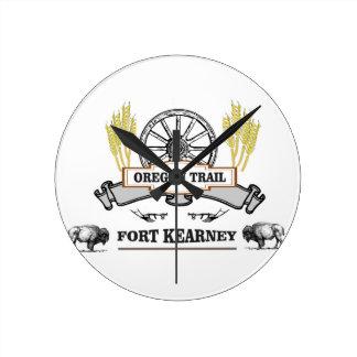 Relógio Redondo kearney do forte da fuga de oregon yeah!