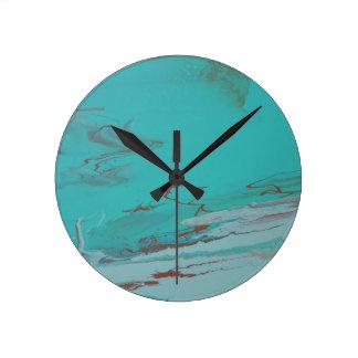 Relógio Redondo Lagoa de cobre