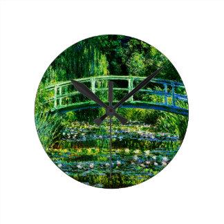 Relógio Redondo Lagoa do Monet-Água-Lírio de Claude
