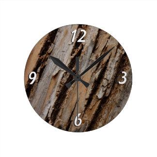 Relógio Redondo Latido de árvore mim abstrato natural design