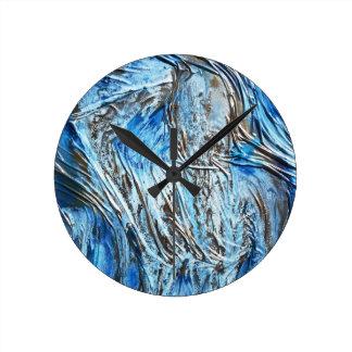 Relógio Redondo Levantamento Textured da mulher