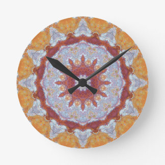 Relógio Redondo Mandala de cobre 07063-1 do Patina