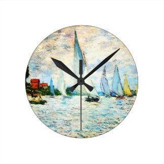 Relógio Redondo Monet-Regata de Claude em Argenteuil