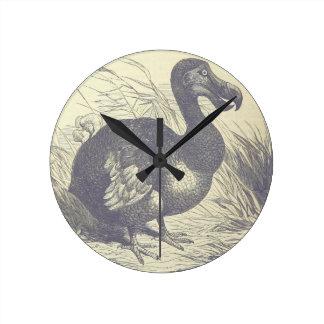 Relógio Redondo Morto como um pulso de disparo de parede do Dodo