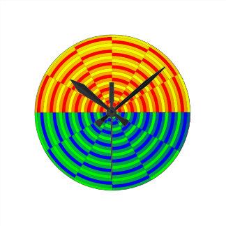 Relógio Redondo Nascer do sol de Digitas por Kenneth Yoncich