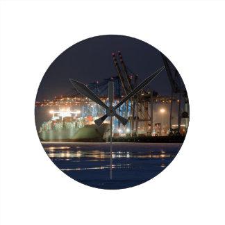 Relógio Redondo Navio de recipiente