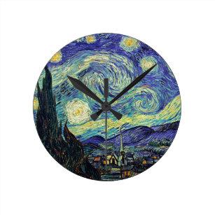 206496b8c5f Relógio Redondo Noite estrelado por Van Gogh