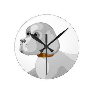 Relógio Redondo O cão dá a pata