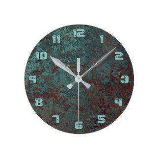 """Relógio Redondo """" O pulso de disparo de cobre do impressão 'da"""