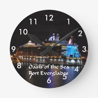 Relógio Redondo Oásis das caraíbas reais dos mares