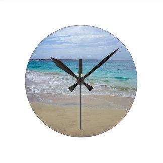 Relógio Redondo paraíso tropical